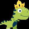 dinosaur wearing tiara